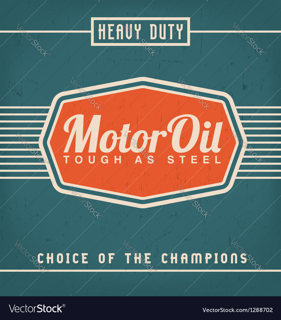 Motor oil design vector
