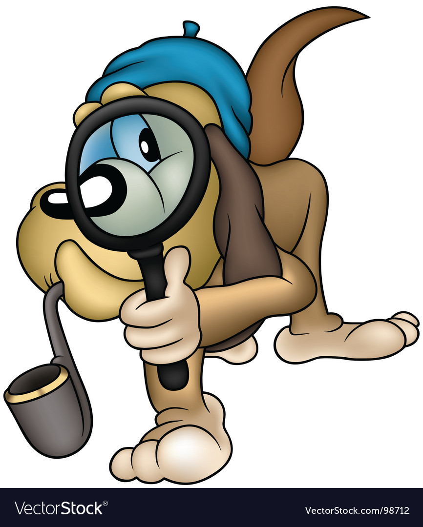 Dog detective vector