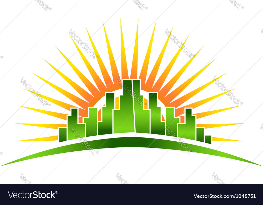 Skyline sunshine vector
