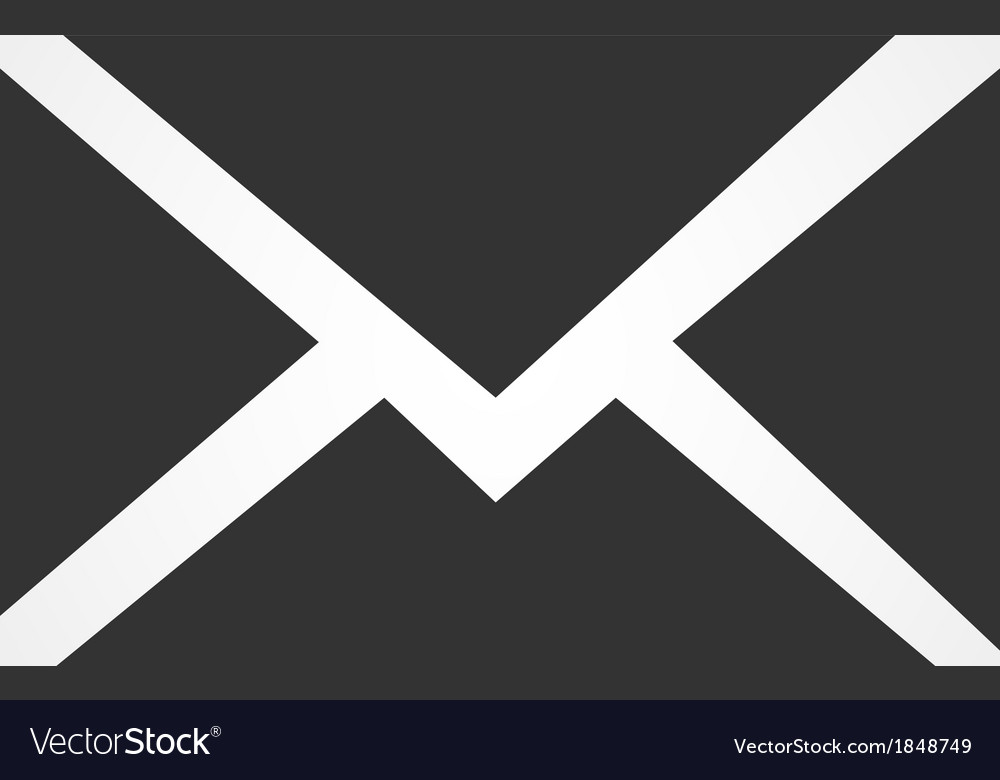 Email message icon flat design vector