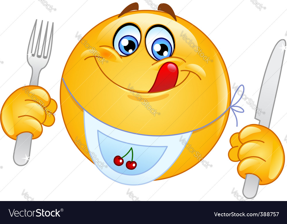 Hungry emoticon vector