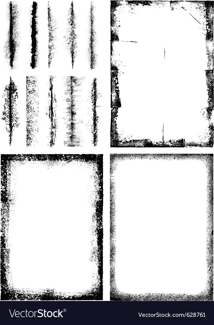 A collection of high detail grunge frames and elem vector