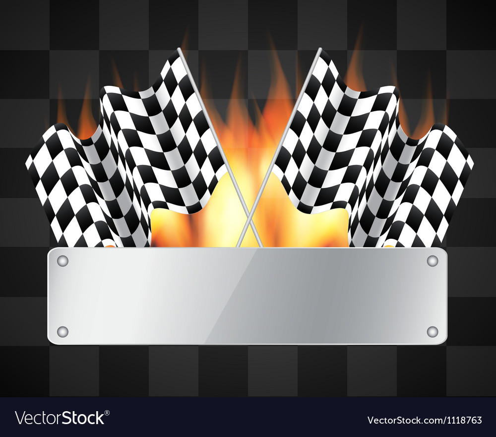 Background with checkered flags vector