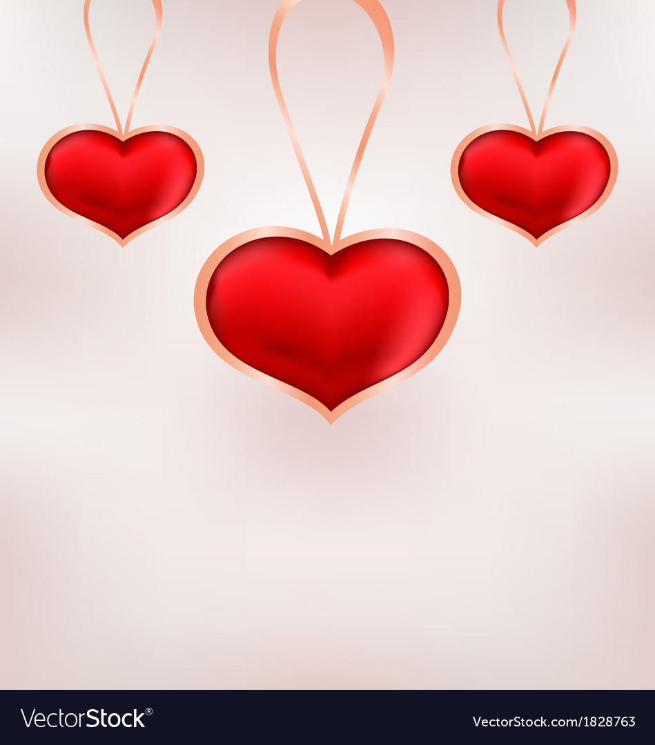 Cute background for valentine day with red hearts