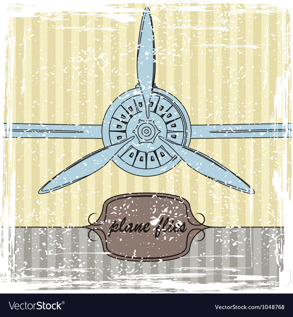 Vintage plane striped background vector