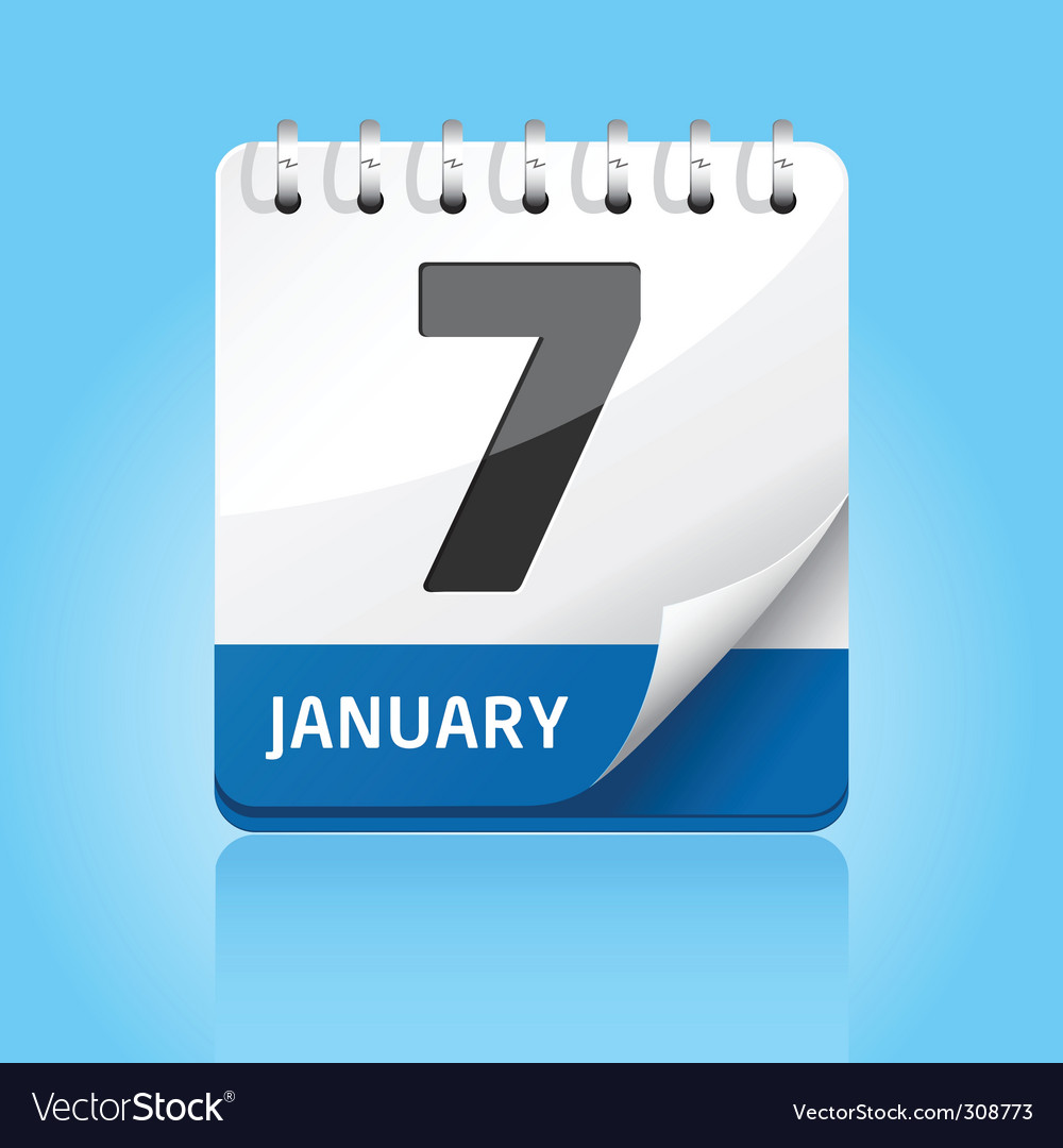 Calendar icon  blue vector