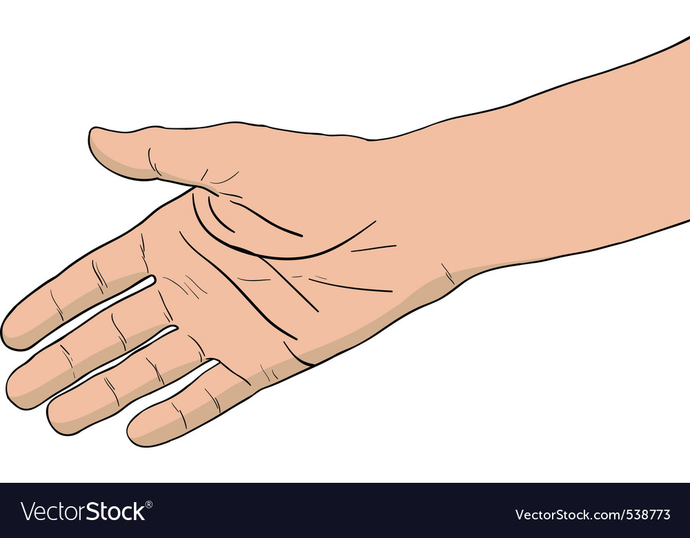 Right hand isolated on the white vector