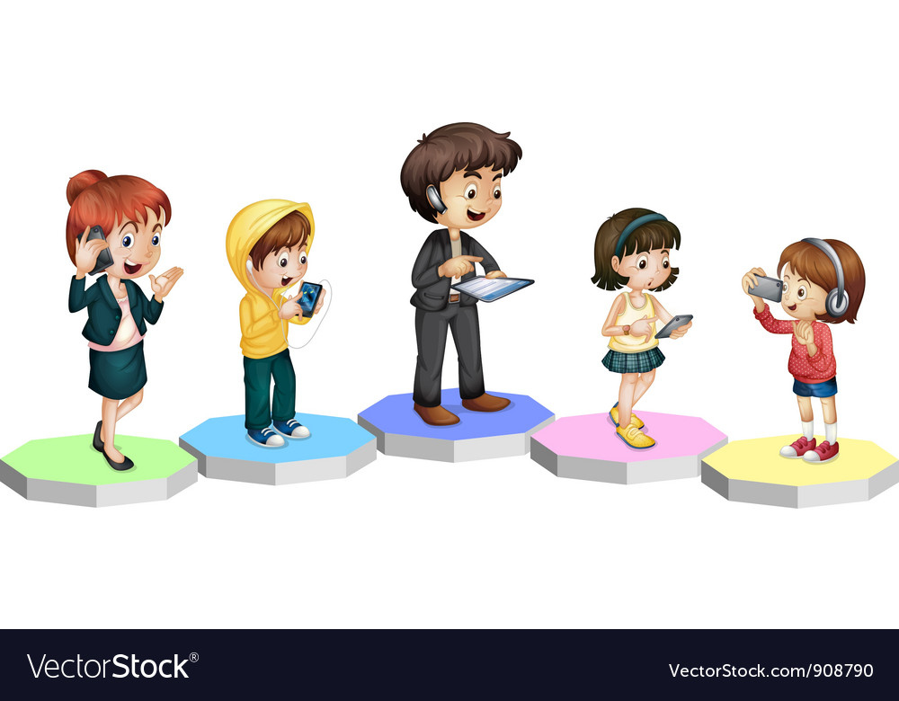 Technology family vector