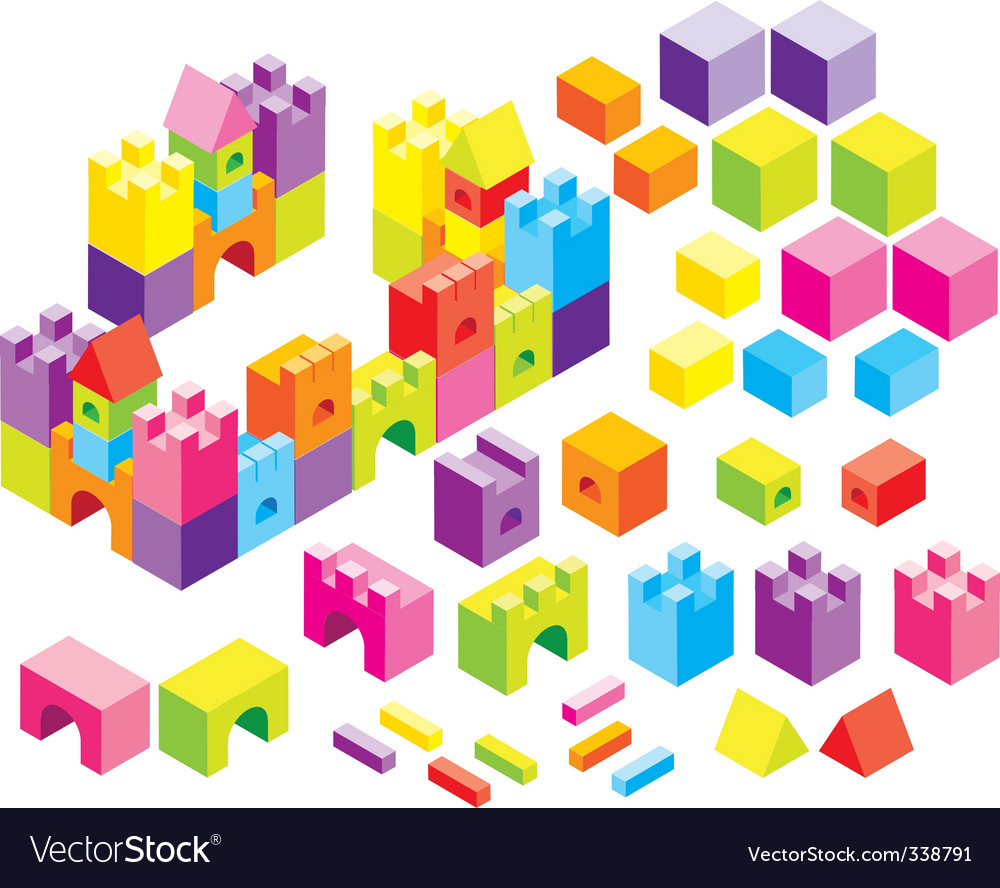 Color boxes vector