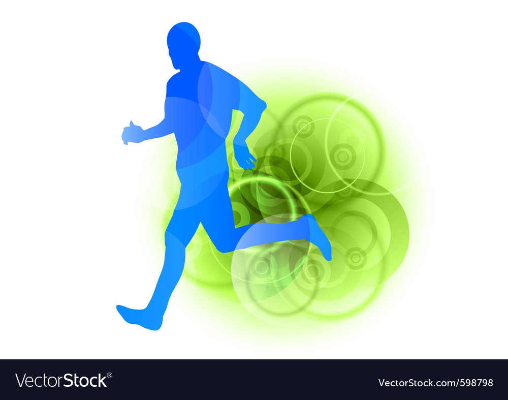 Blue runner vector