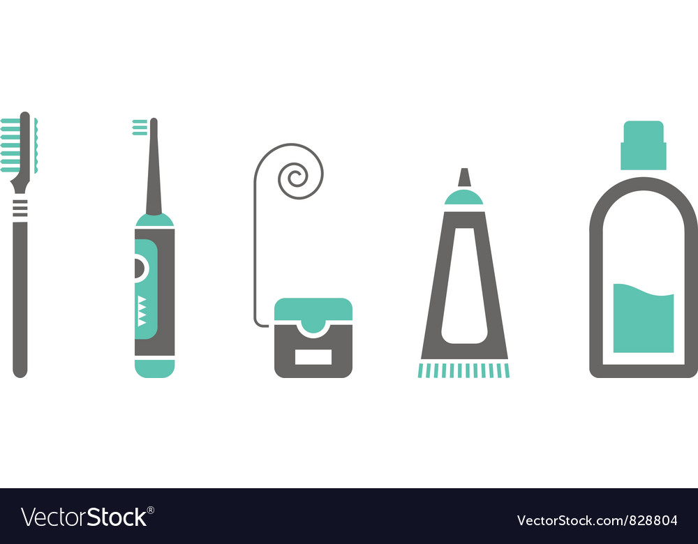 Mouth and teeth care icons vector