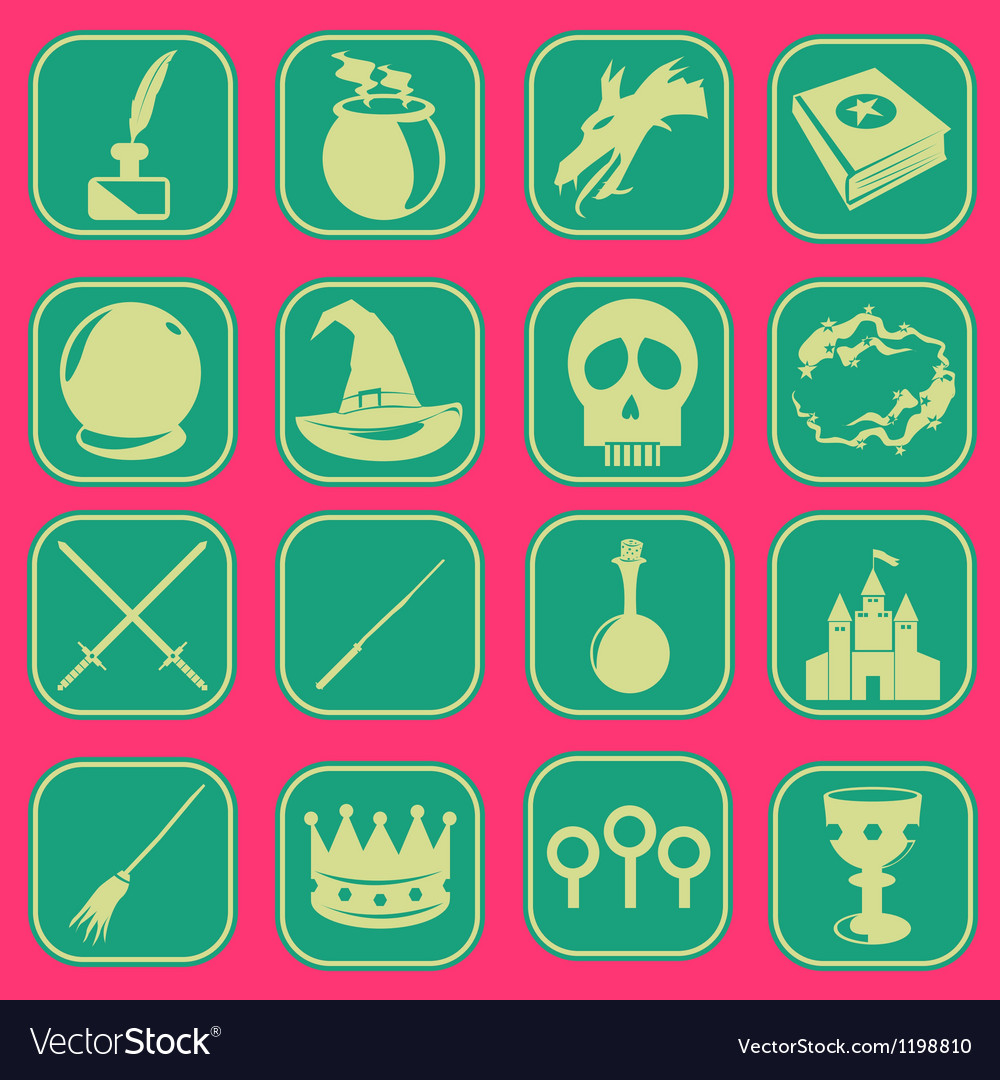 Magic icon basic style vector