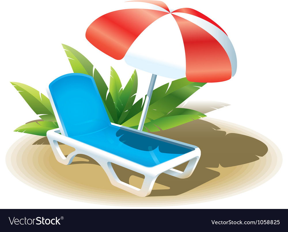 Summer vacation on the beach vector