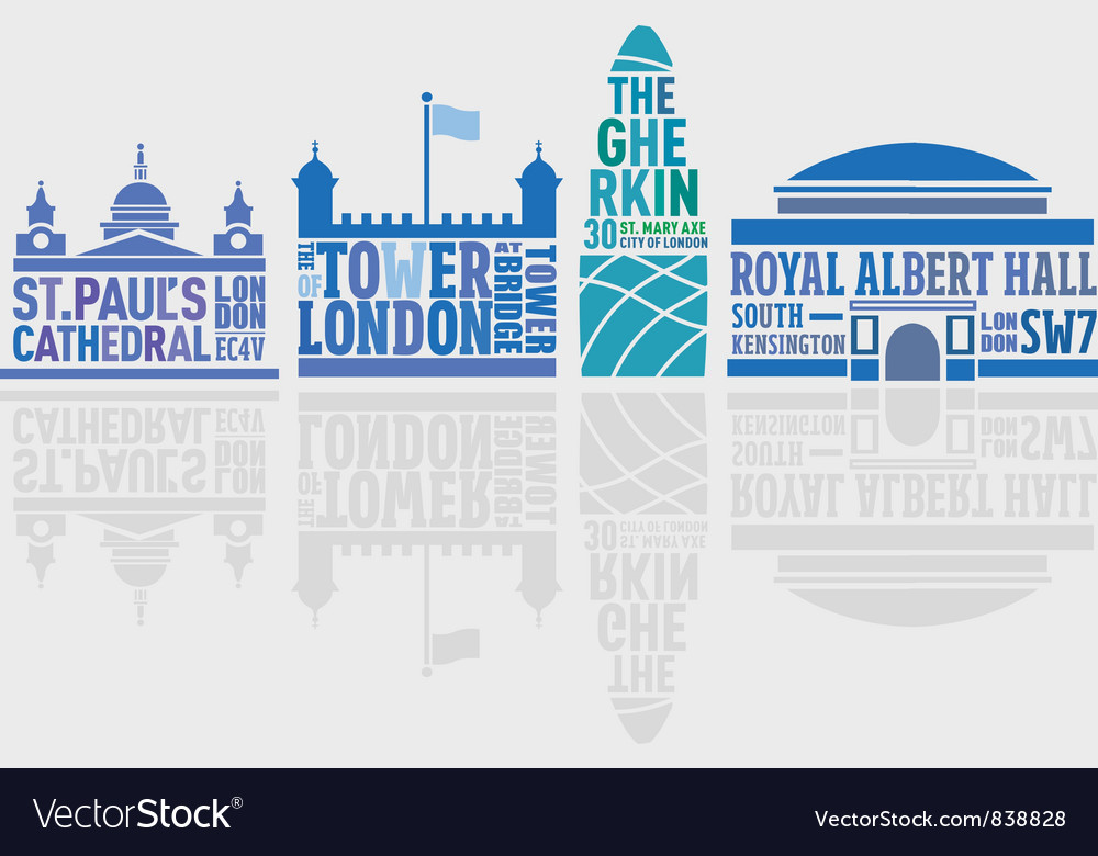London landmark buildings vector