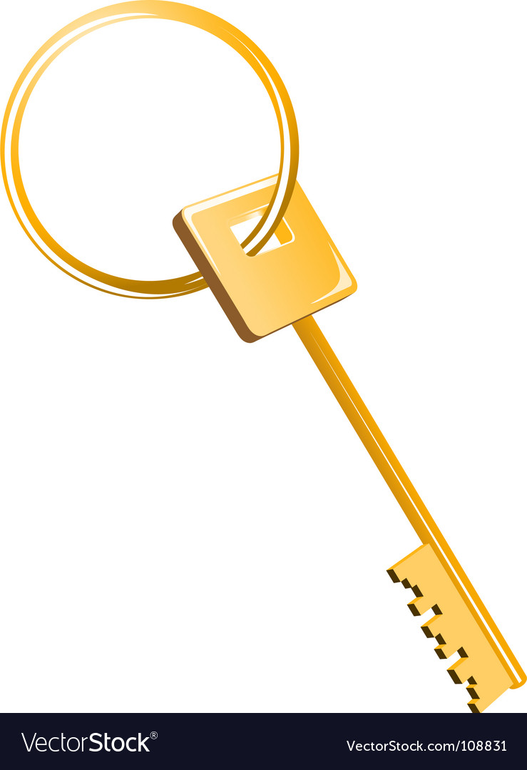 Free gold key vector