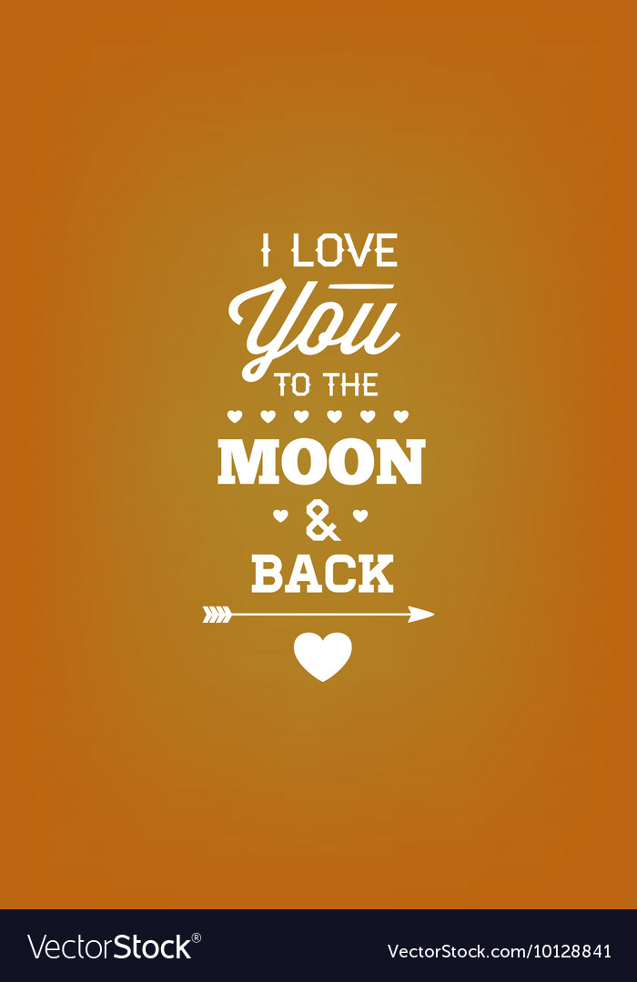 With love moon and