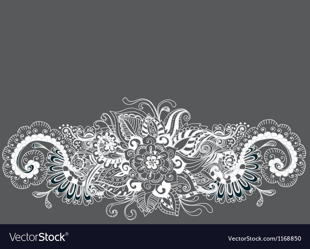 Floral ornament card vector
