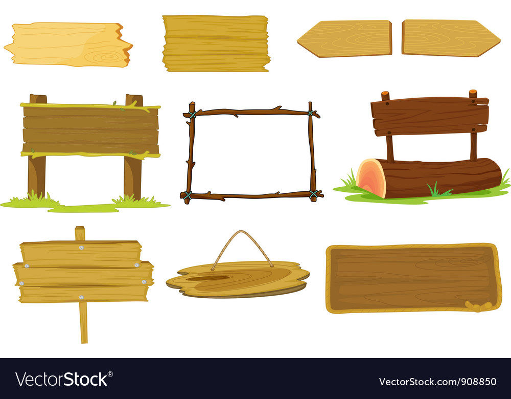 Signs and banners vector