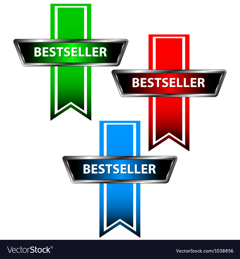 Three bestseller icons vector