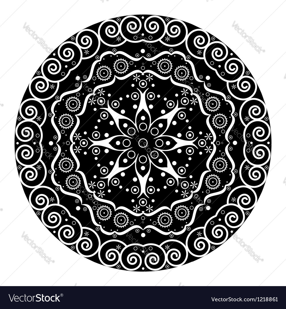 Abstract ethnic symbol vector