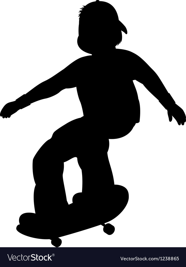 Silhouette of skater vector