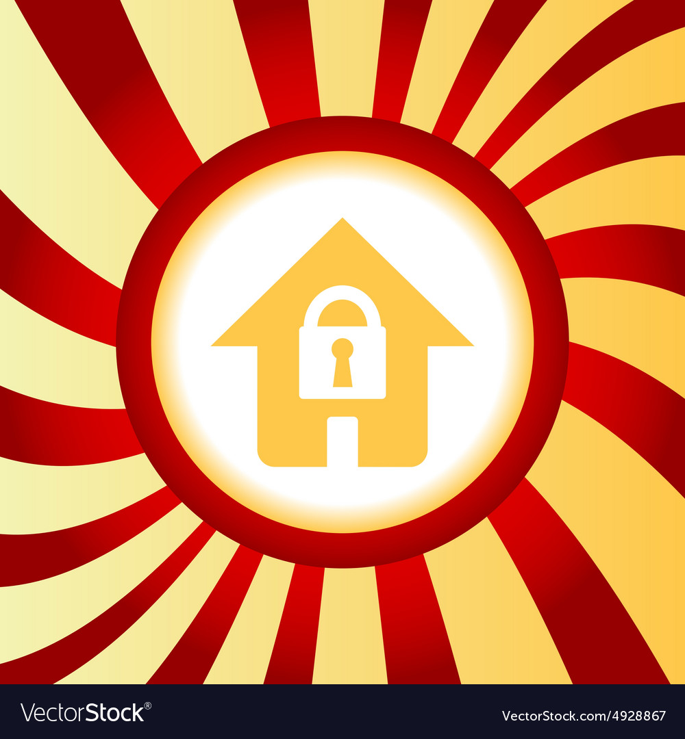 Locked house abstract icon