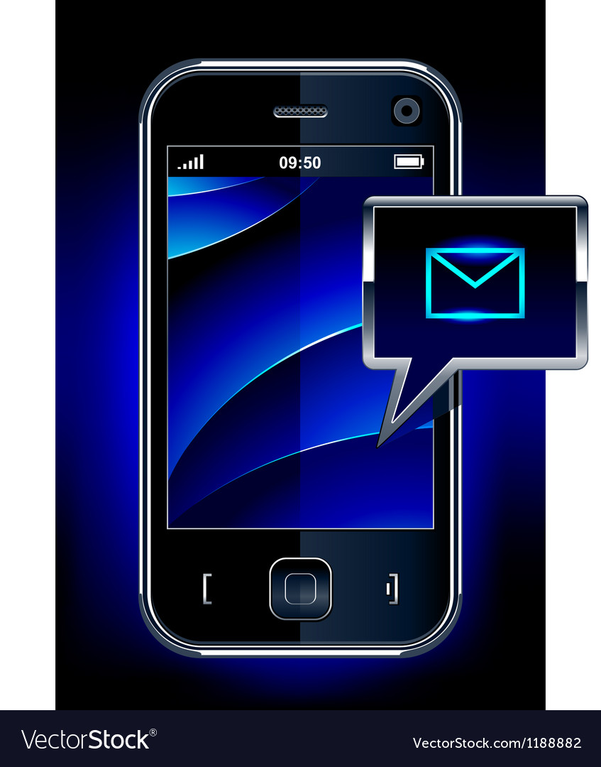 Phone with message symbol vector