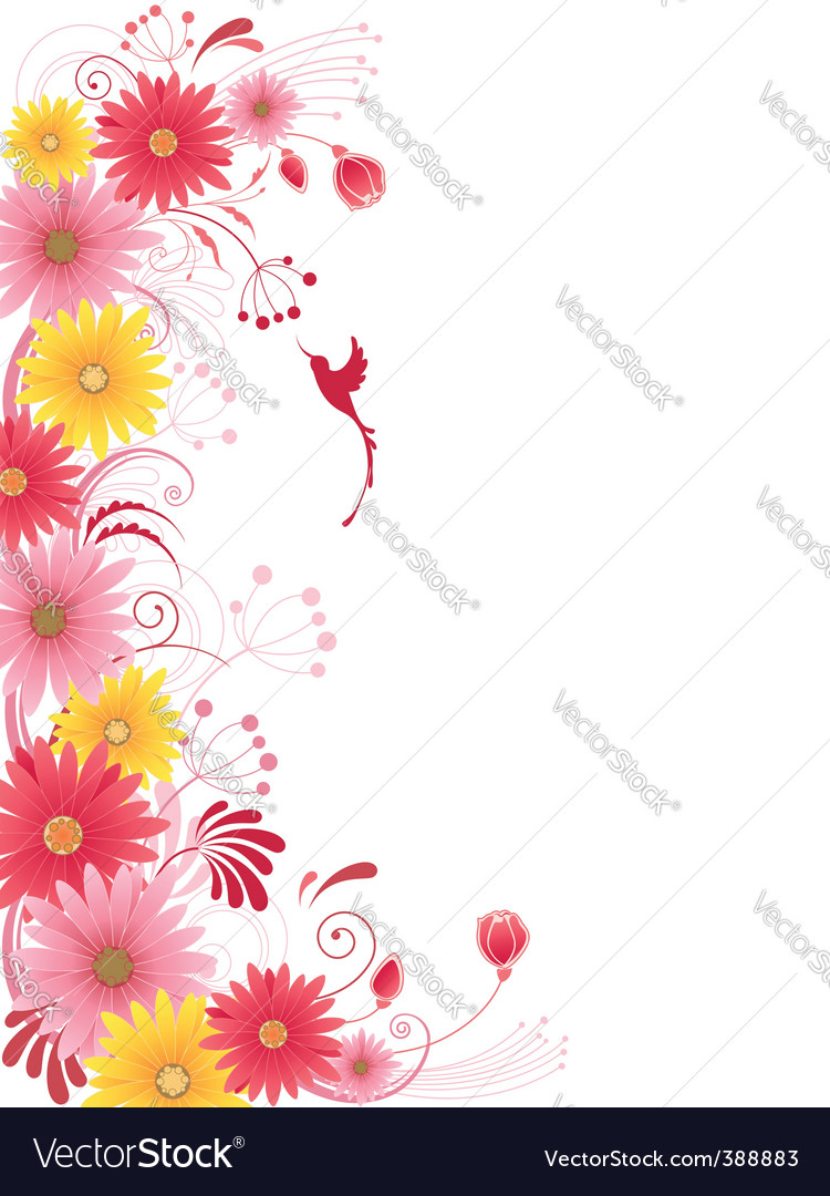 Floral background with red flowers vector by Artspace - Image #388883 ... Patterns Icon