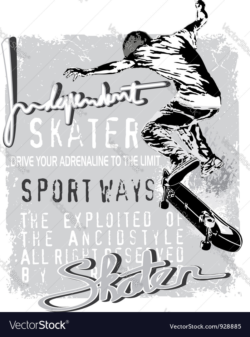 Independent skater vector