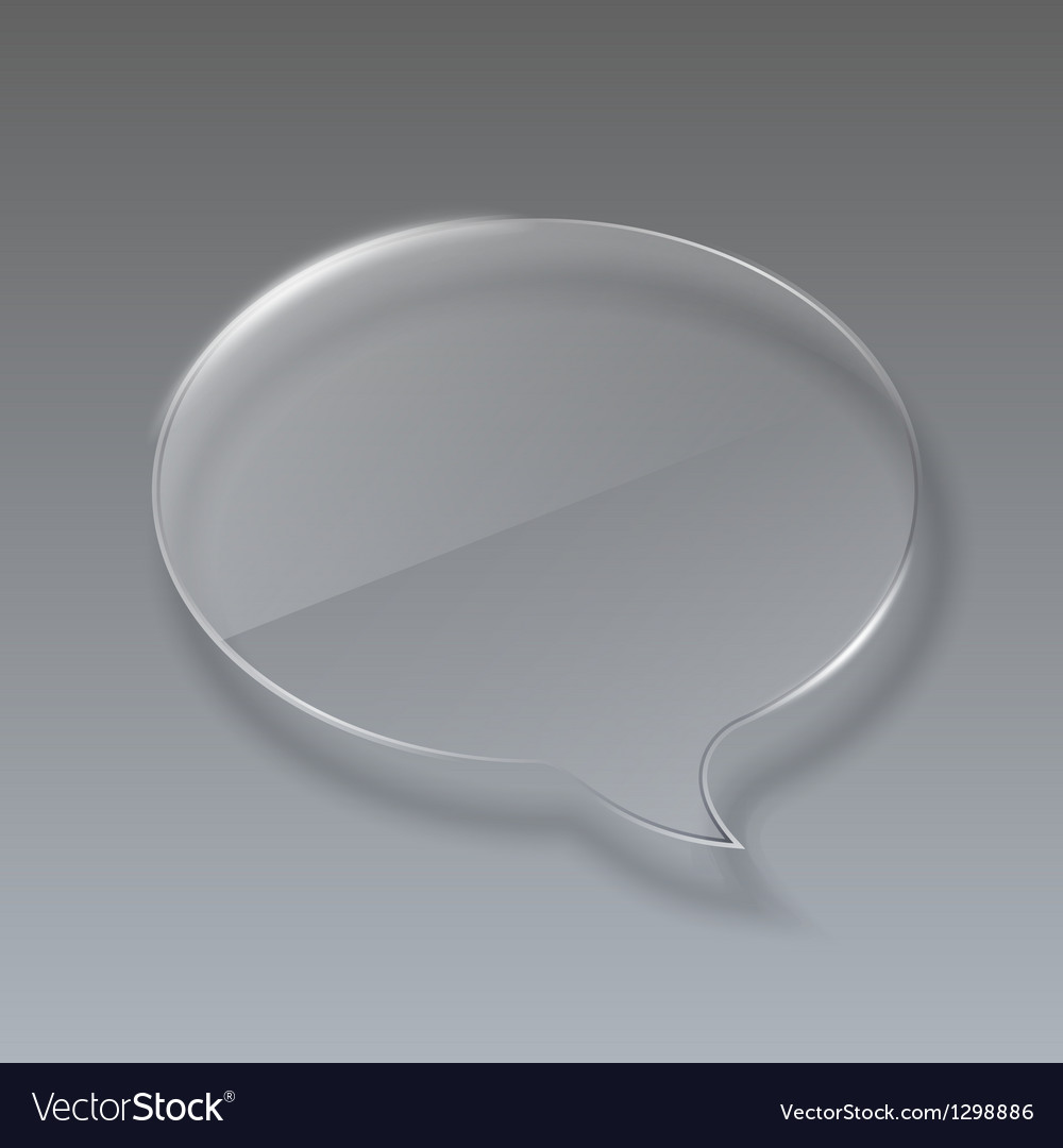 Glass bubble speech on gray background vector