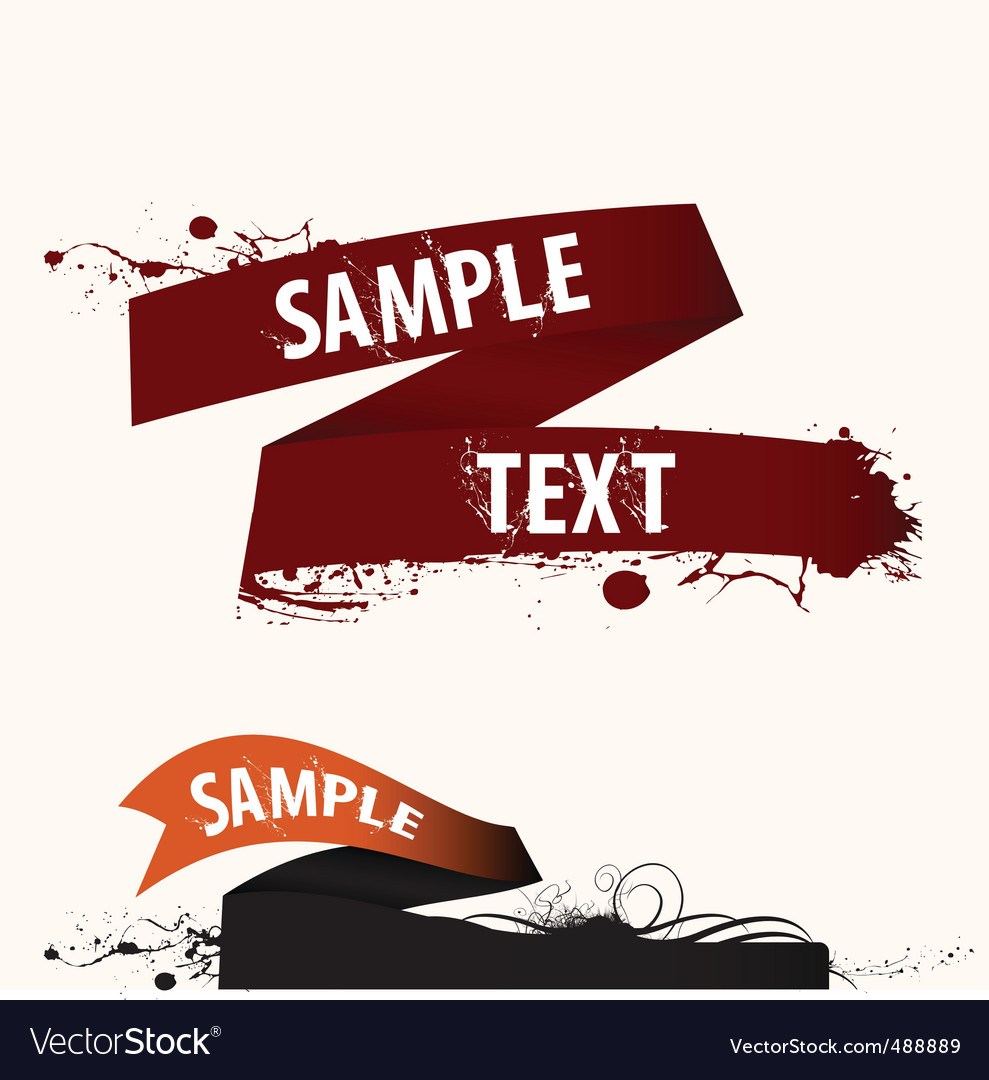 Text frame ribbon vector