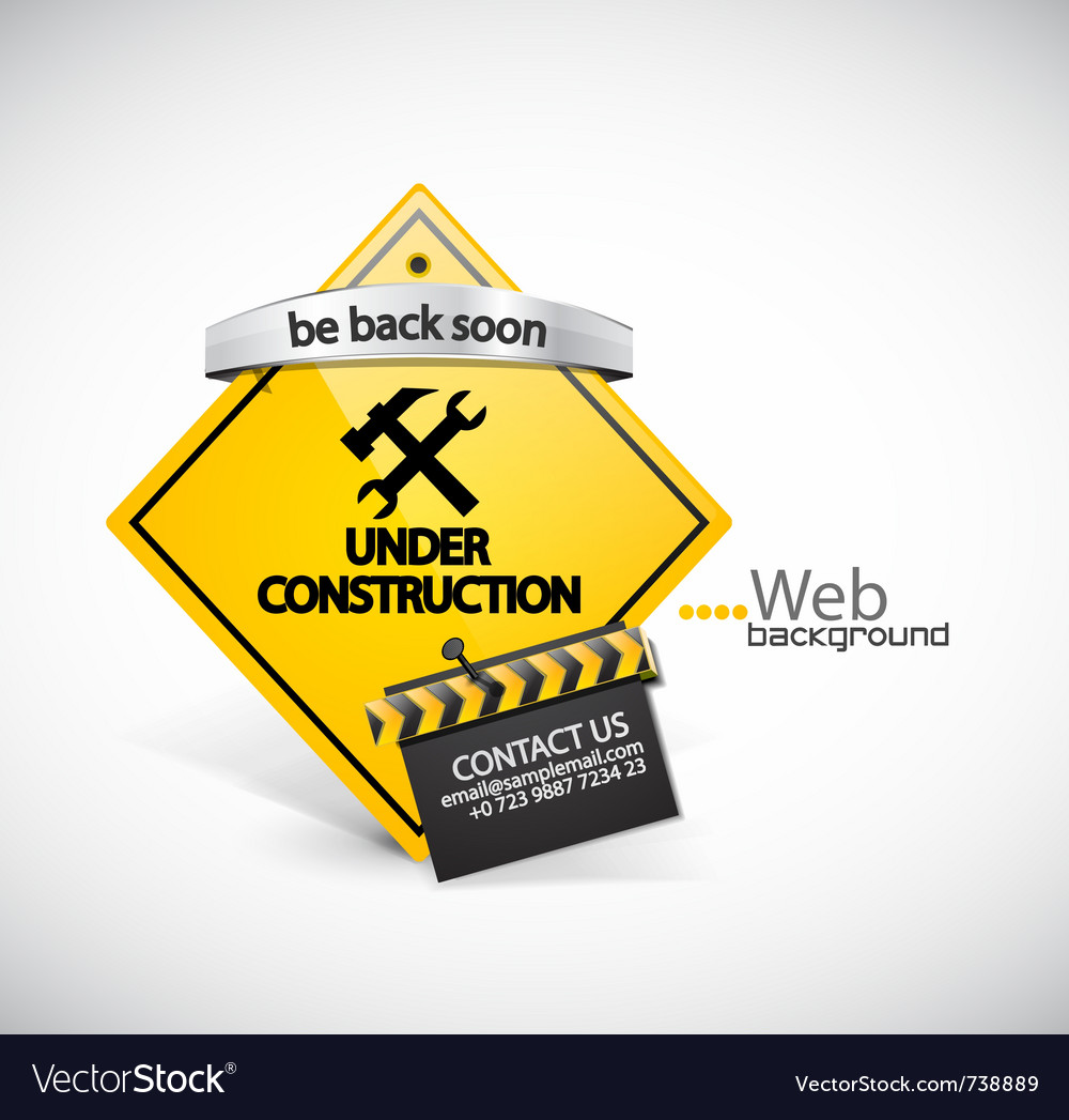 Under construction background vector