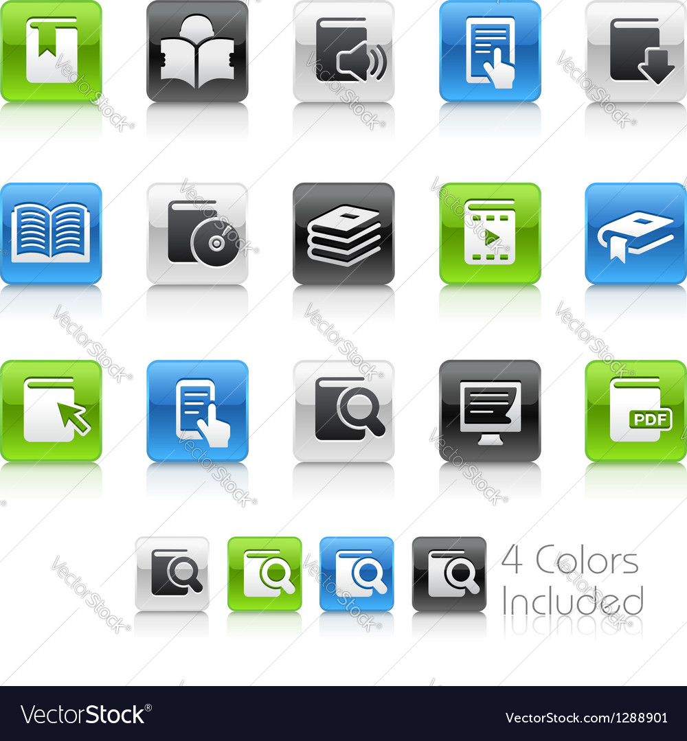 Books icons clean series vector