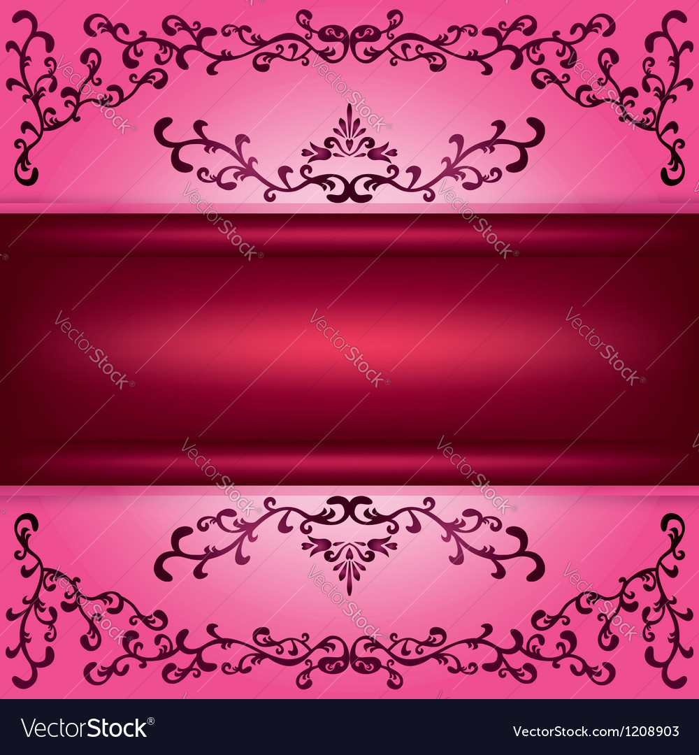 Background with decorative ornament vector
