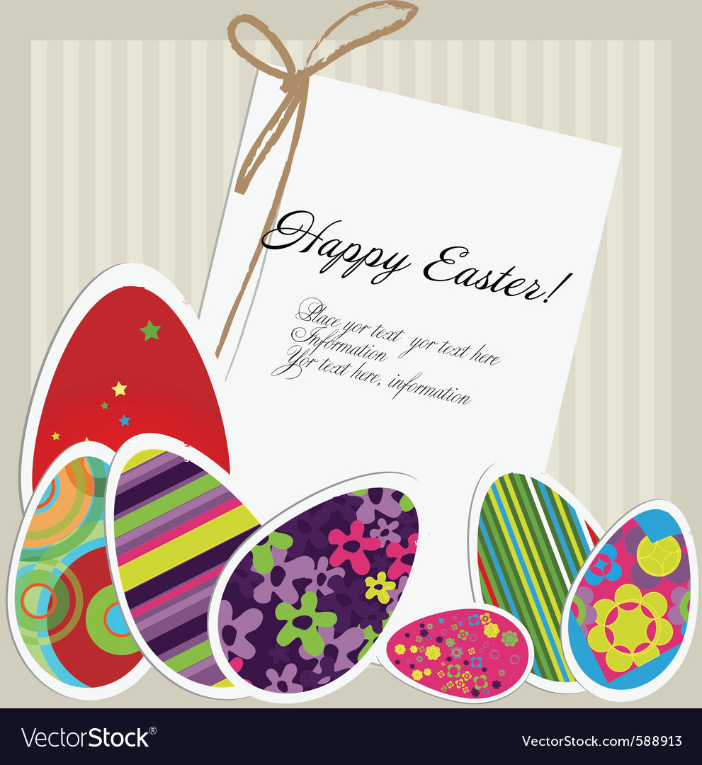 easter greeting card vector by indeeza  image   vectorstock, Greeting card