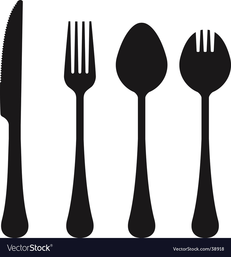 Cutlery collection vector