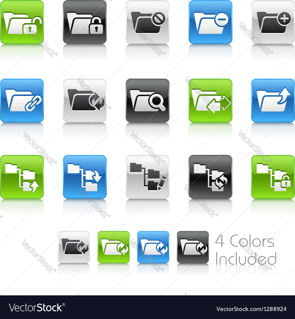 Folder icons 1 clean series vector