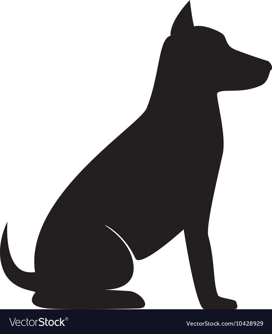 Dog sit silhouette vector by studiogstock - Image ...
