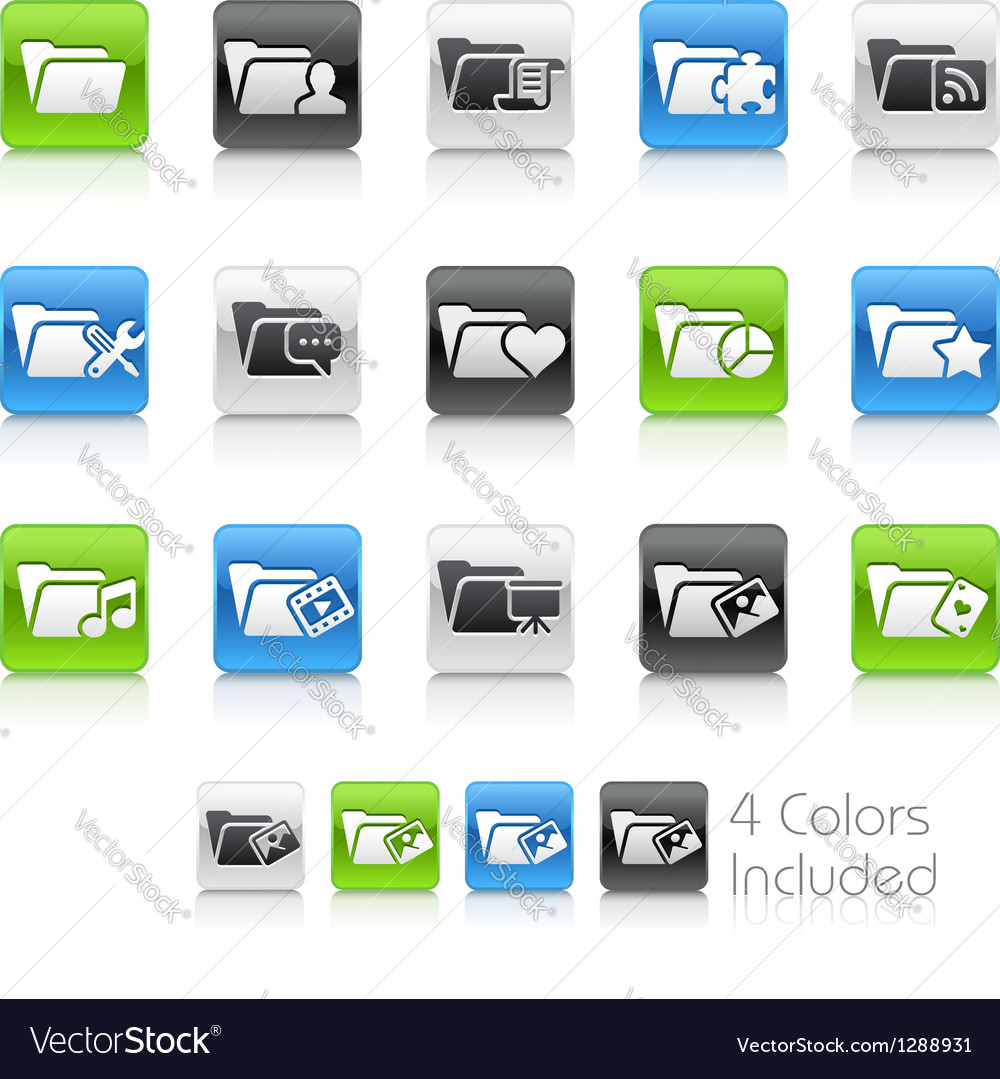 Folder icons 2 clean series vector