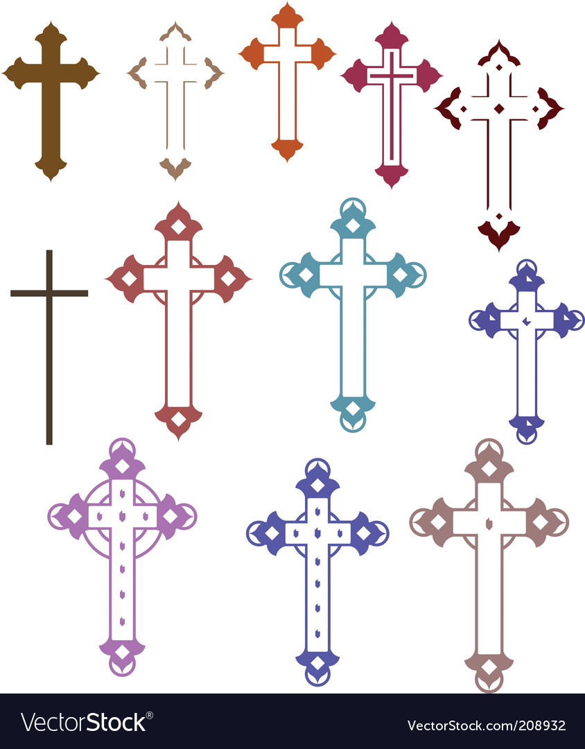 12 crosses vector