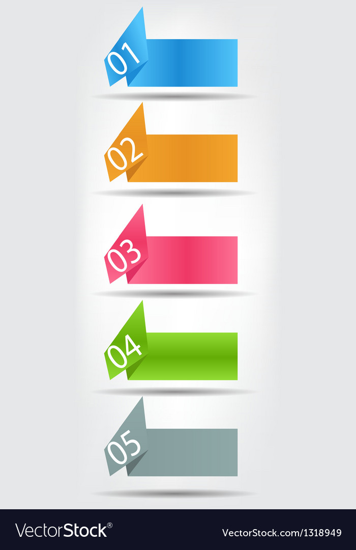 Concept of colorful origami for different business vector