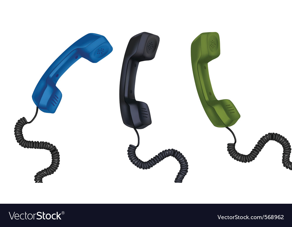 Set with telephone receivers vector
