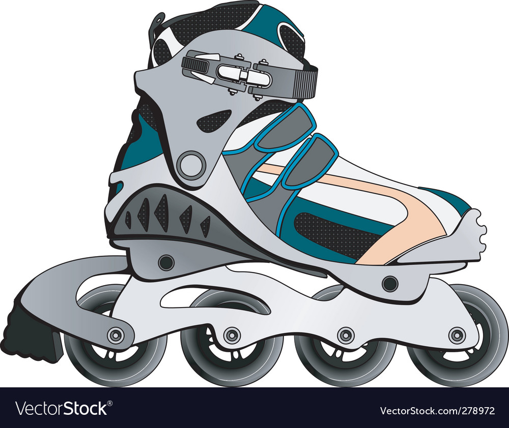 Cartoon skate boot vector