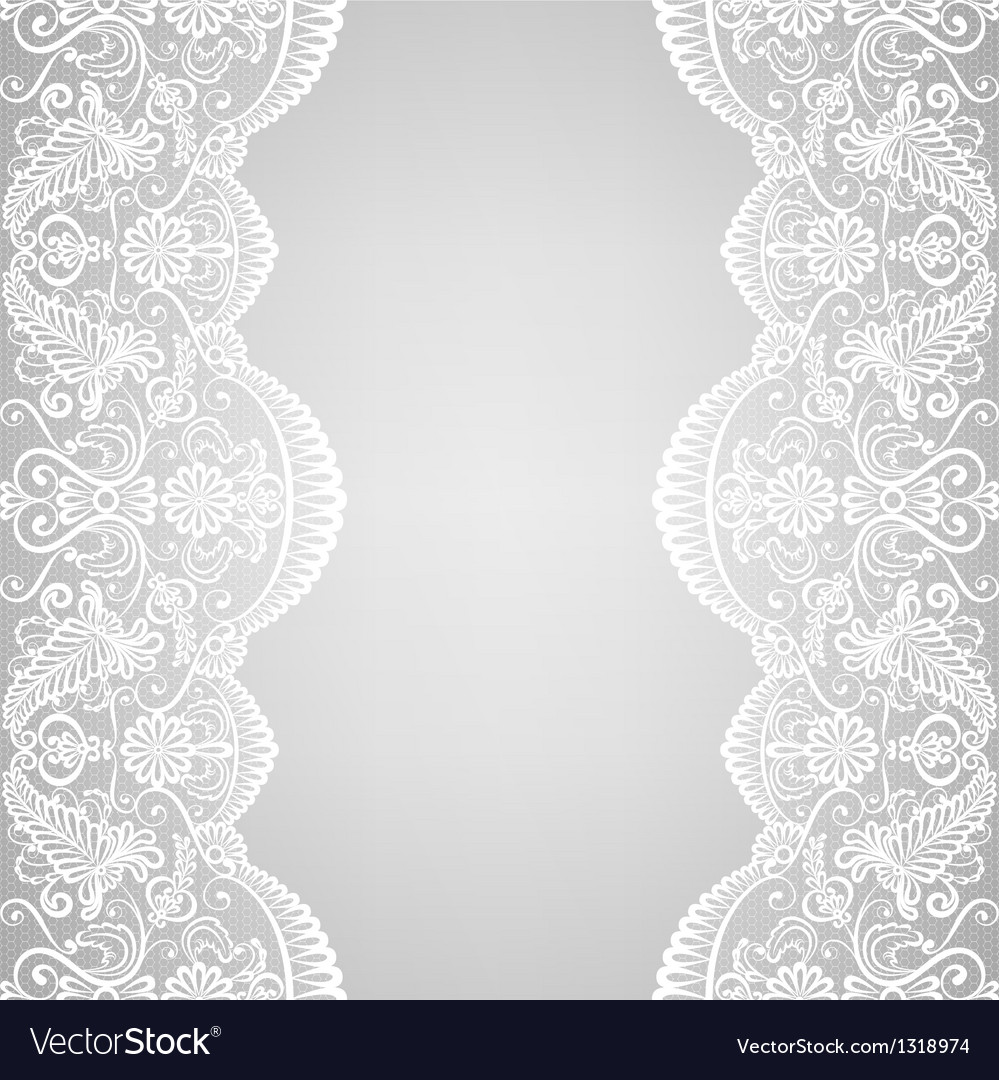 Lace border vector