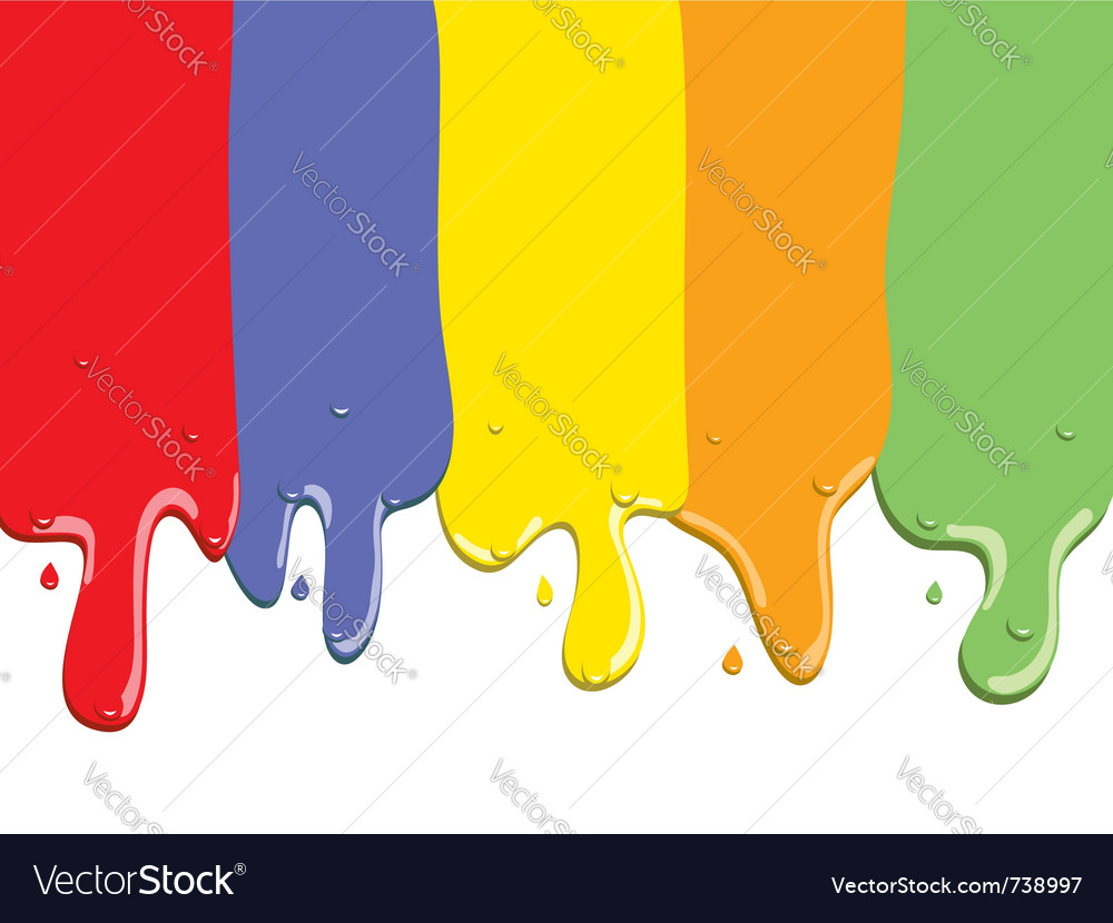 Paint stripes flowing with drops vector