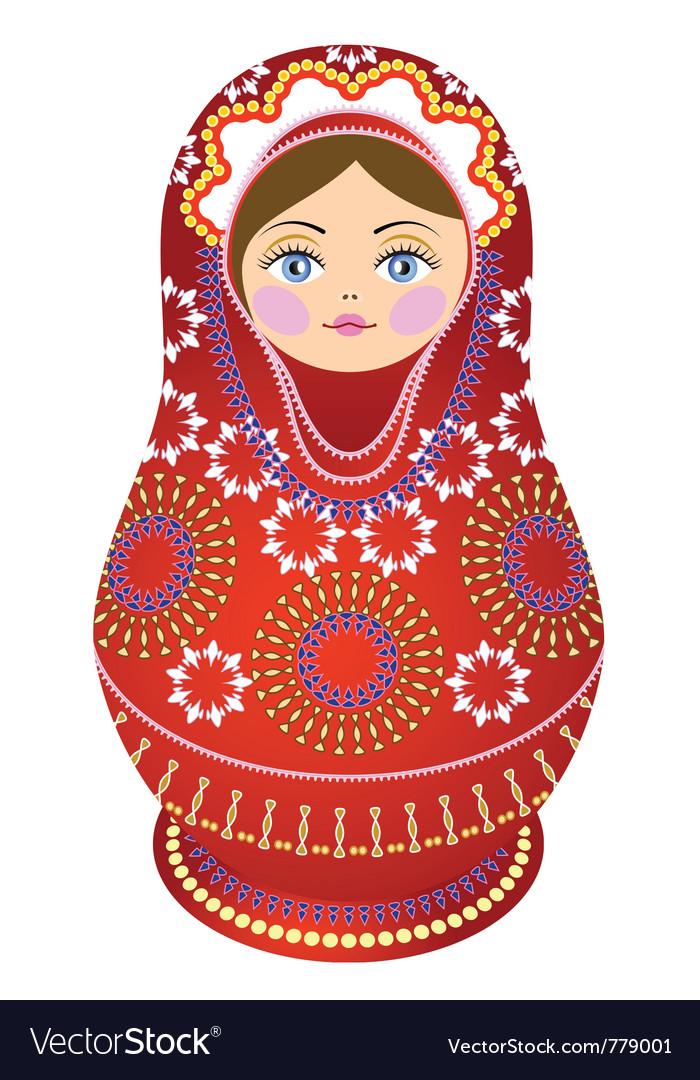 Russian doll vector by shtoyko image 779001 vectorstock