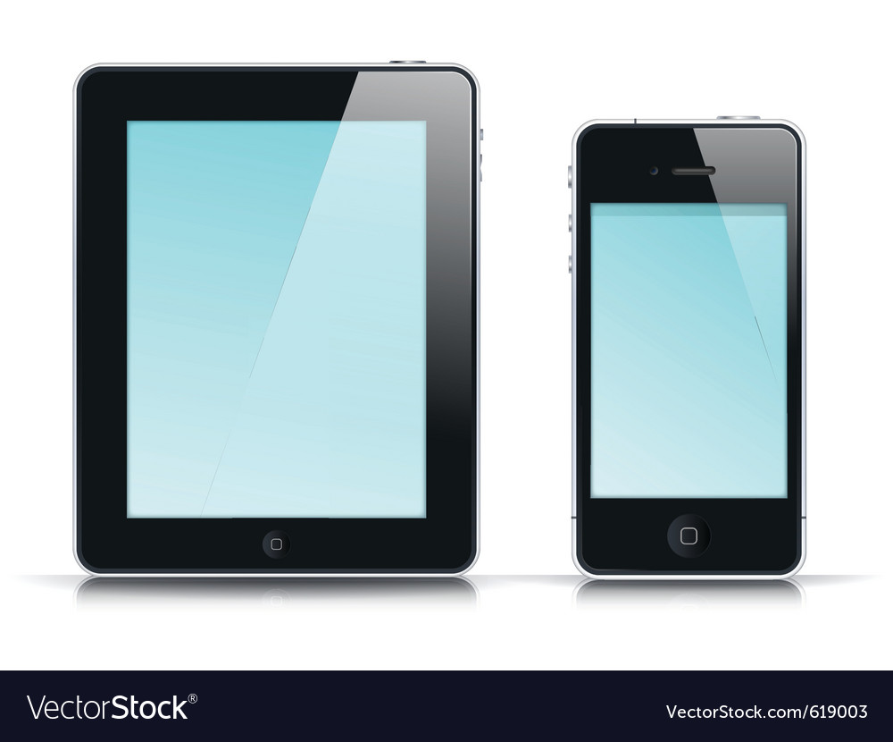 Mobile app template vector