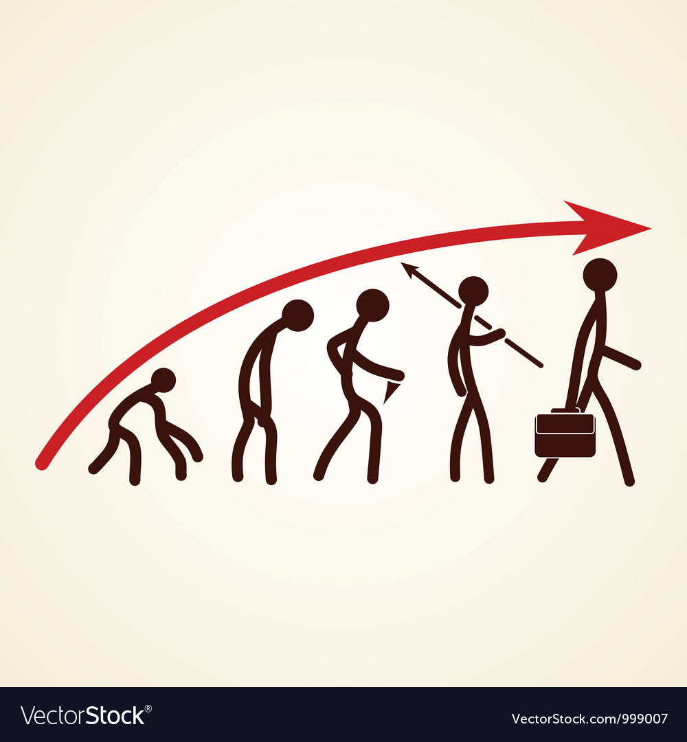 Evolution success concept vector