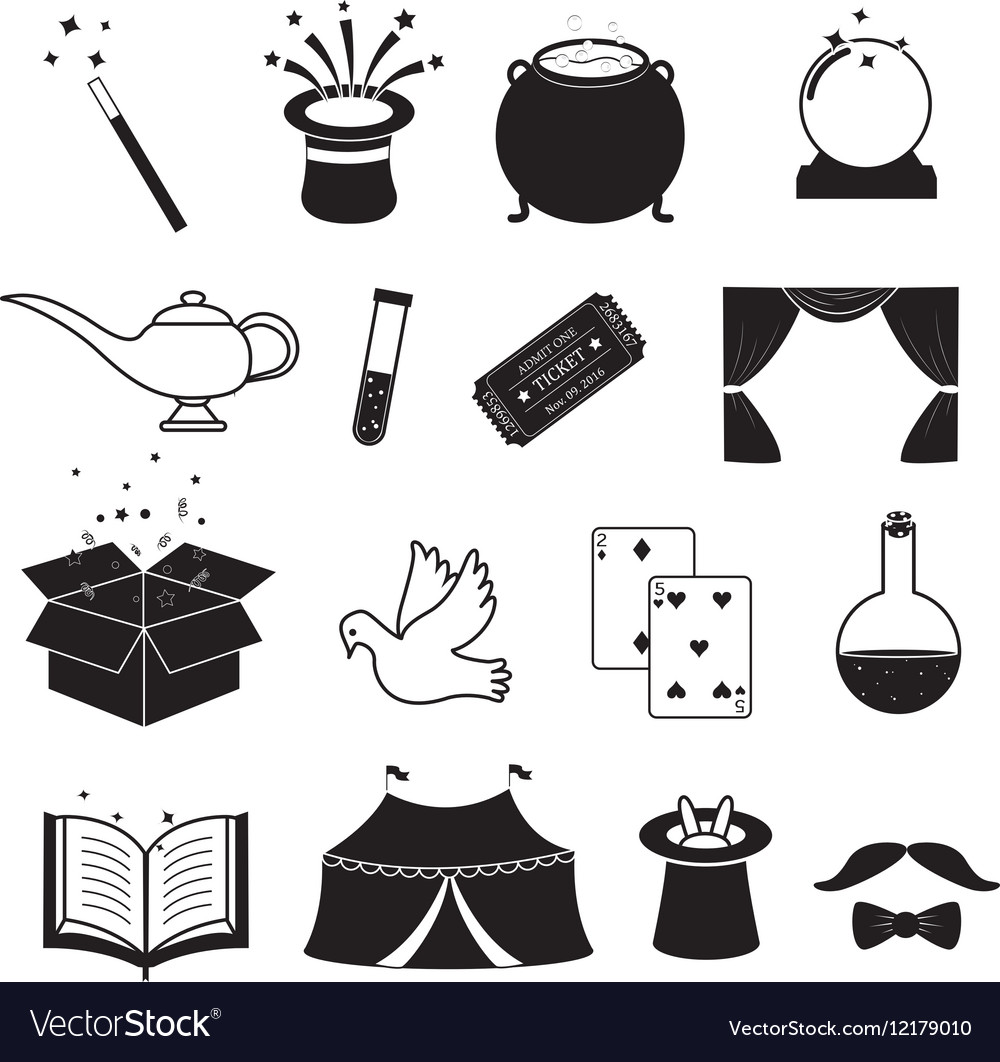 Magic related icons set vector by nonifg191 - Image ...