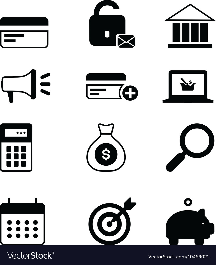 Business icons set single vector by vikrant06 - Image #10459021 ...: https://www.vectorstock.com/royalty-free-vector/business-icons-set...